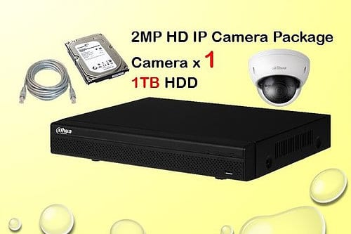 1x 2MP HP IP Camera Package