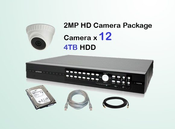 12x HD Camera CCTV Package