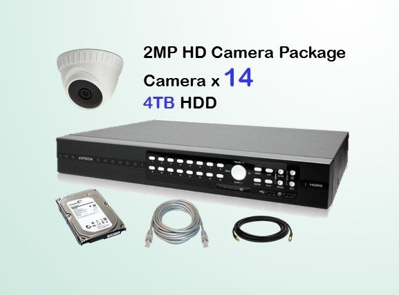 14x HD Camera CCTV Package
