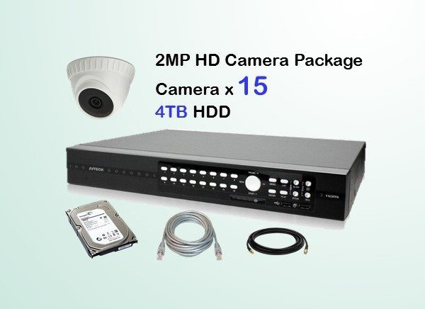 15x HD Camera CCTV Package