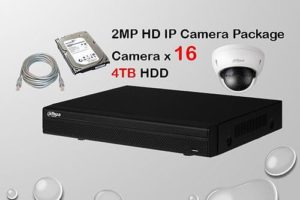 16x DAHUA HD IP Camera CCTV Installation Package