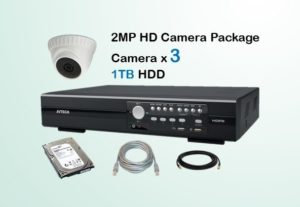 3x AVTECH HD Camera CCTV Installation Package