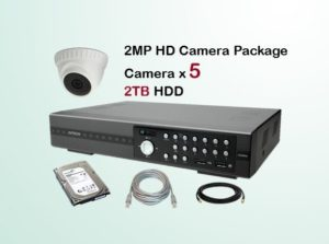 5x HD Camera CCTV Package