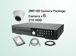 6x HD Camera CCTV Package