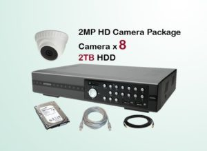 8x HD Camera CCTV Package