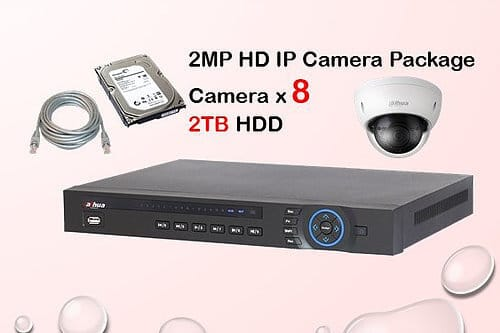 8x IP Camera Package
