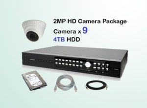 9x HD Camera CCTV Package