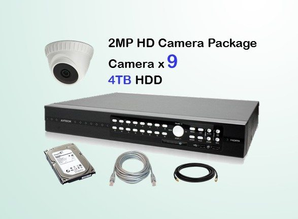 9x AVTECH HD Camera CCTV Installation Package