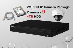 9x DAHUA HD IP Camera CCTV Installation Package